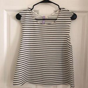 Black and white stripe tank top